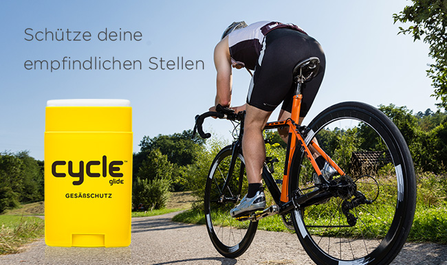 Body Glide Cycle - schützt empfindliche Hautstellen beim Radfahren