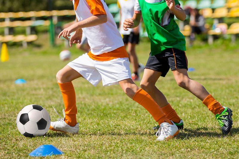 Beim Fußballspielen